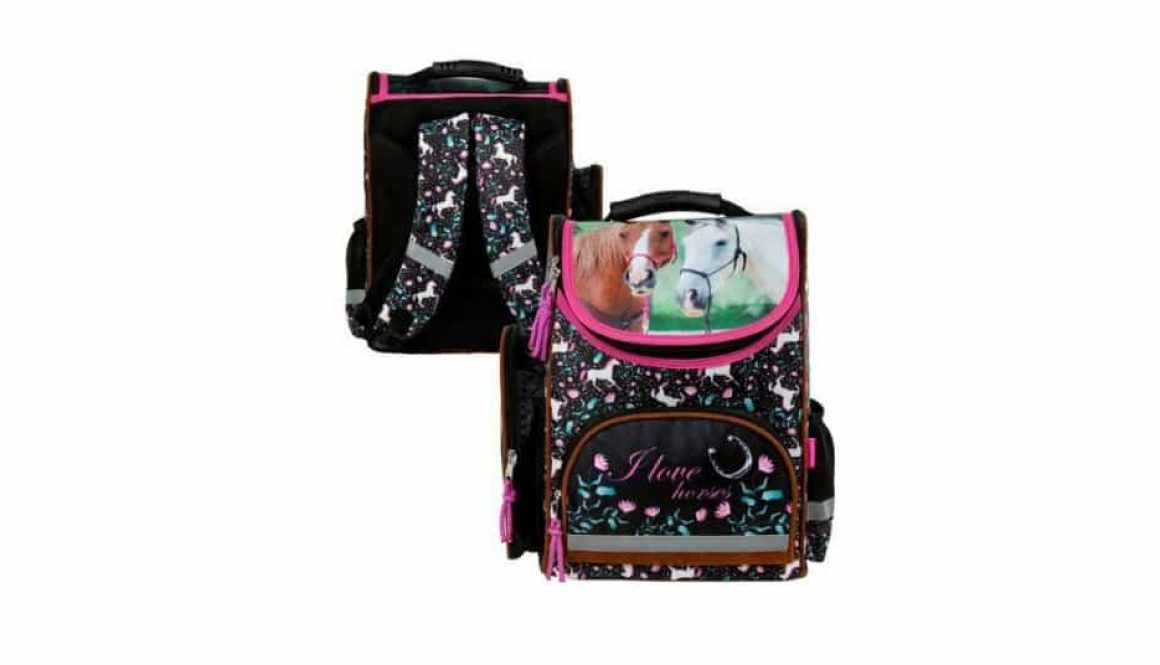 Szkolny tornister dla dziecka do pierwszej klasy.
